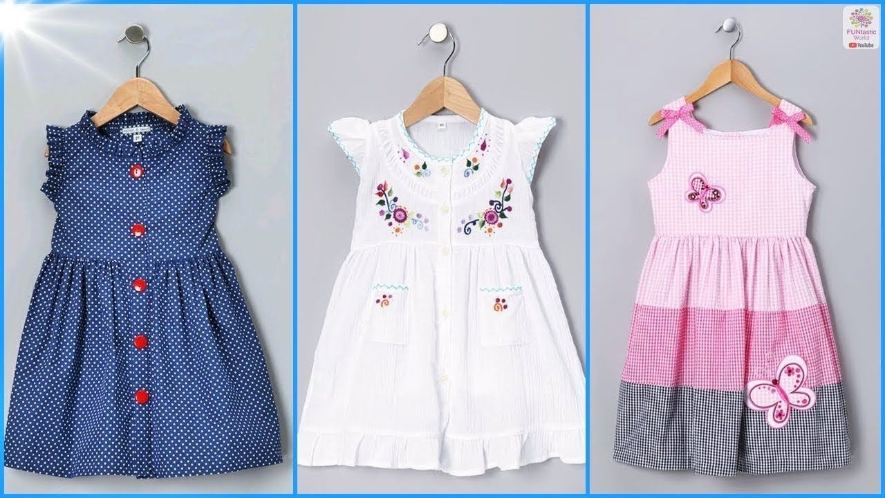 a827f8b17 Top 35 Cotton Frocks Designs for Kids | Simple Baby Girls Summer Dresses.