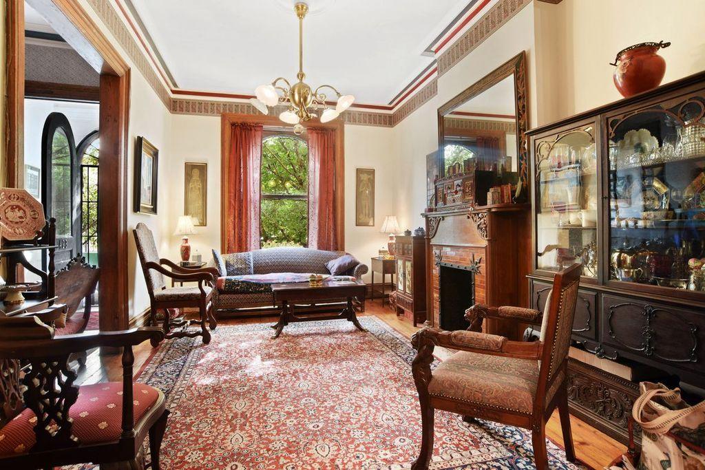 Brooklyn Brownstone living room | Living room, Drawing ...