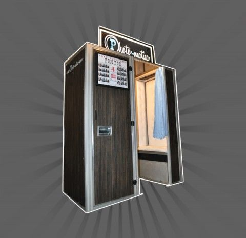 Vintage photo booth rental