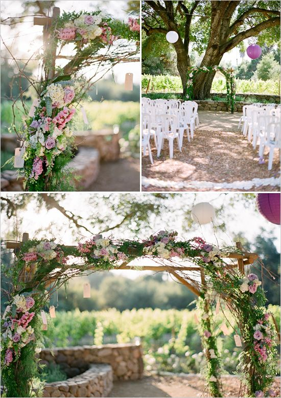 yes. I want a beautiful wooden wedding alter with flowers! Maybe have thicker wood beams, with either a wood cross beam or a  wooden sign with something meaningful written on it above the place of getting married :)