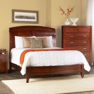 Cama trineo de madera cabecera dividida queen camas for Trineo madera decoracion