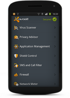 6 apps to secure your smartphone: avast! Free Mobile