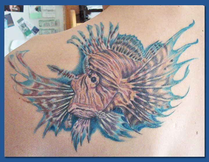 Lion fish tattoo