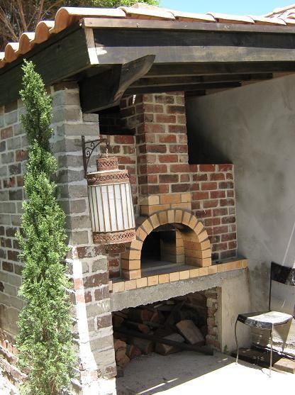 Custom Built Rustic Wood Fired Pizza Oven Barbekyu Pekarni Dacha