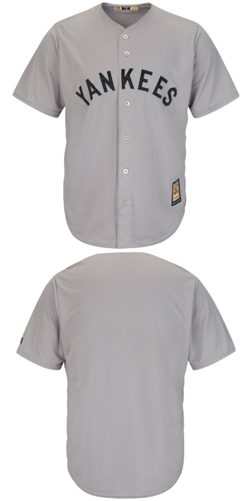 d29af9377a9 New York Yankees Majestic Big   Tall Cooperstown Cool Base Jersey - Gray