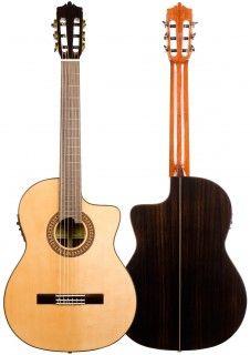 Flamenco Guitar Martinez Mfg Cs Ce Cutaway Electroacoustic Cypress Guitar Flamenco Acoustic Guitar