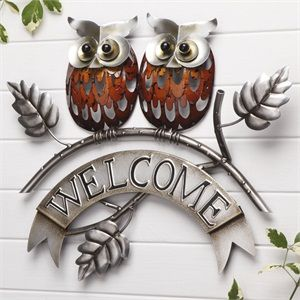 Owl Welcome Plaque