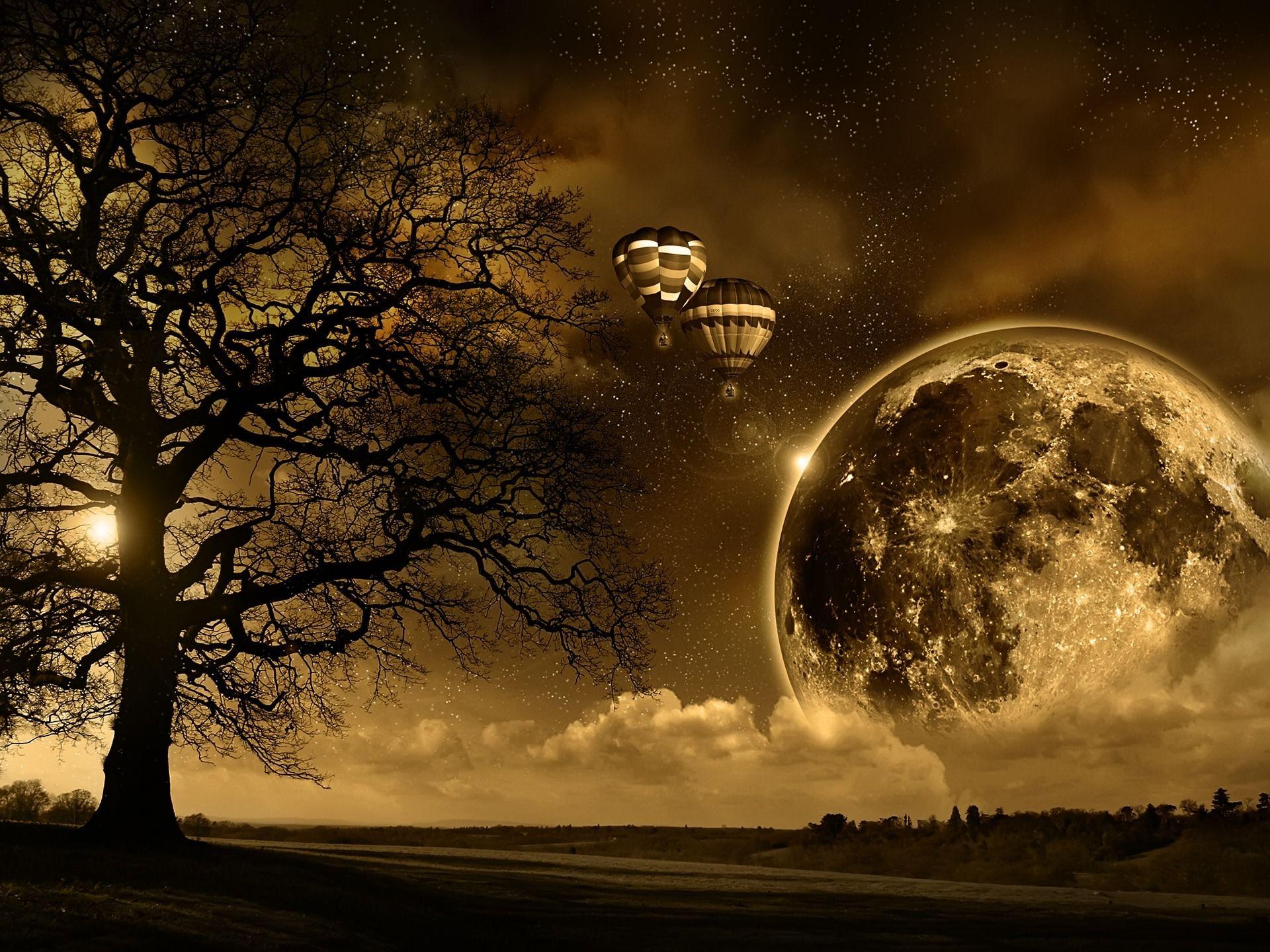 Magic Moon 3d Wallpaper 3d Wallpapers Moon Beautiful Moon Sky