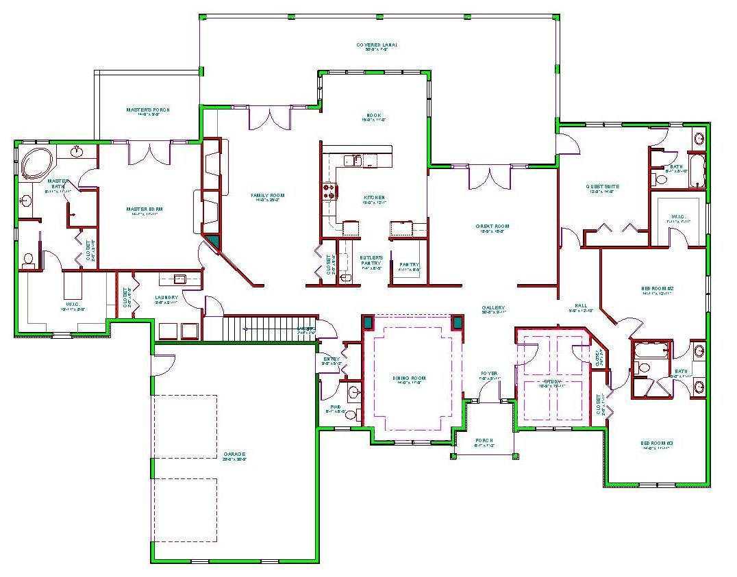 Mediterranean house plans mediterranean house plan d65 for Home designs 6 bedrooms
