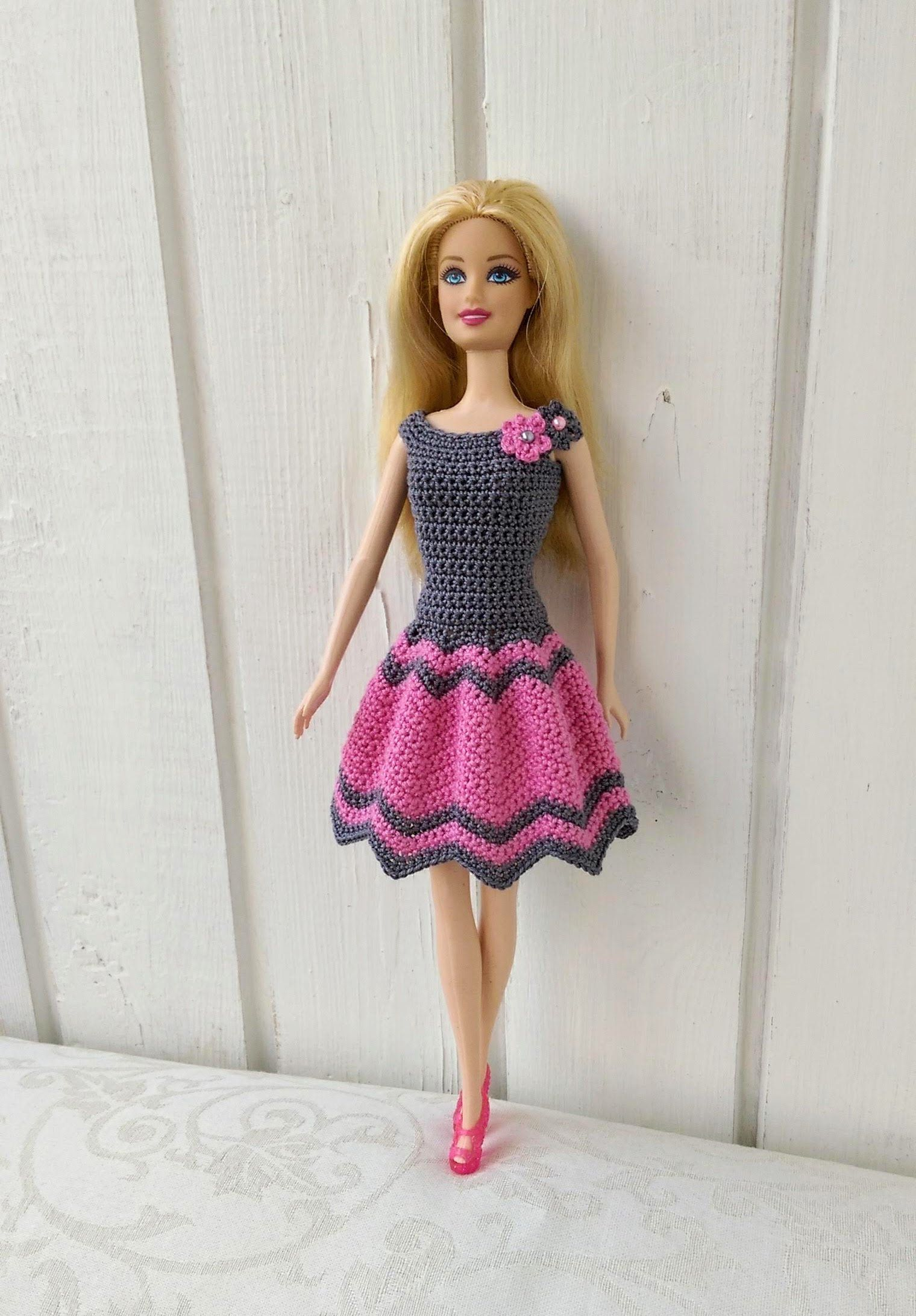 Barbie clothes Barbie Crochet Dress for Barbie Doll