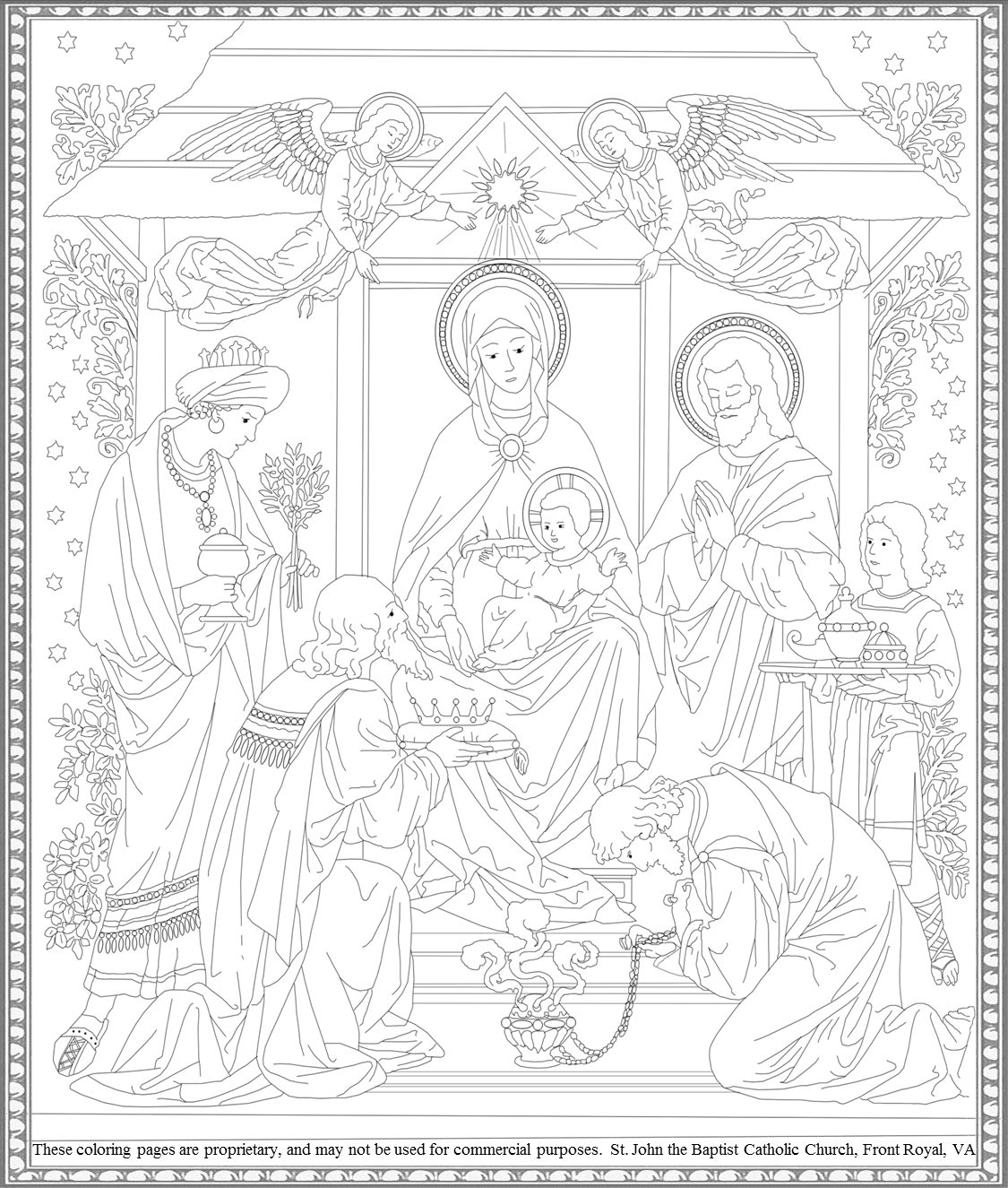 epiphany coloring pages free - photo#24