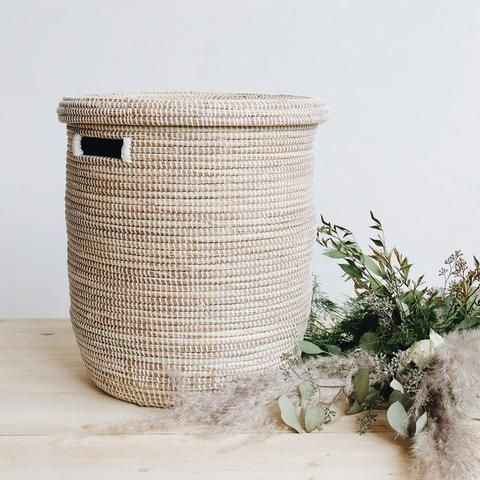 Flat Lid Woven Storage Laundry Basket