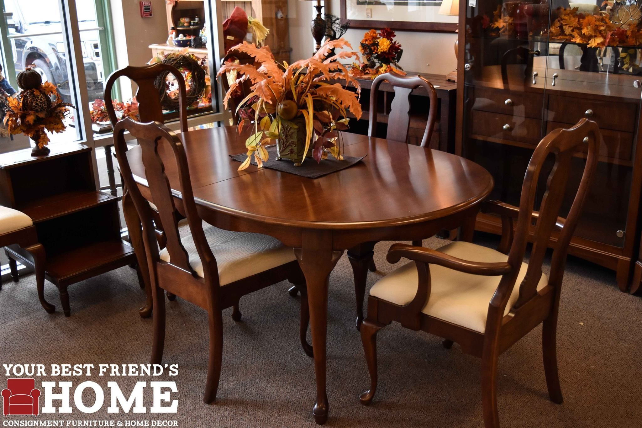 Pennsylvania House Dining Table And Six Chairs Leaves And Pads