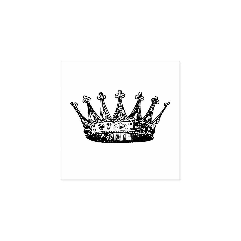Crown Princess Rubber Stamp Zazzle Com Small Crown Tattoo Crown Tattoo Crown Tattoos For Women