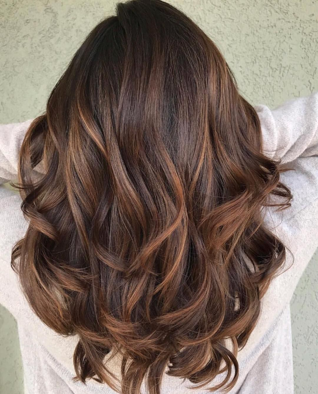 brown hair color with highlights   smooth caramel balayage