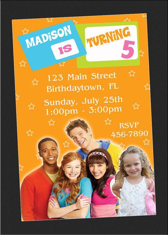 The Fresh Beat Band Birthday Invitations bday party ideas - fresh birthday invitation from a kid