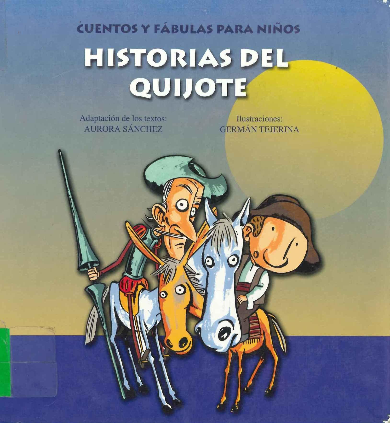 Historias Del Quijote Cuentos Y F Bulas Para Ni Os Adaptaci N  # Muebles Tejerina