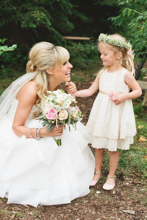 bd1575154 Bride & Flower Girl Rustic Wedding Venues, Farm Wedding, Garden Wedding,  Diy Wedding