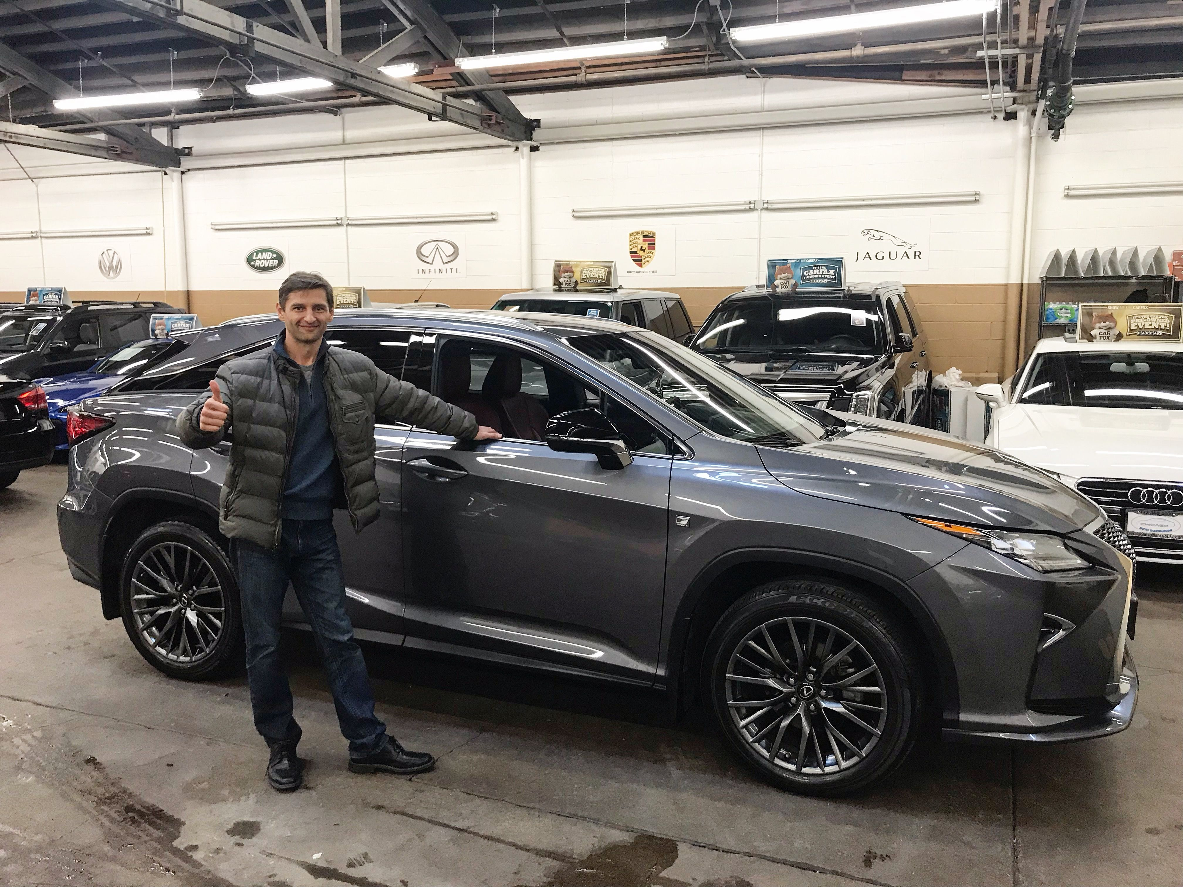 New Owner Alert Chicago Auto Warehouse Thank You Mark For Your Purchase And Enjoy Your New Lexus Rx New Lexus Car Dealership Car Dealer