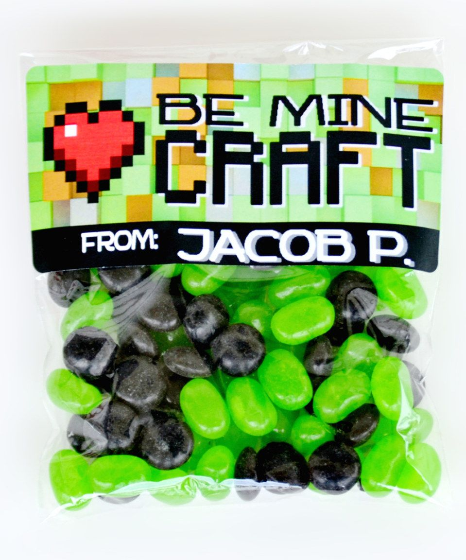 Take a look at this 'Mine Craft' Personalized valentine Sticker & Bag Set today!