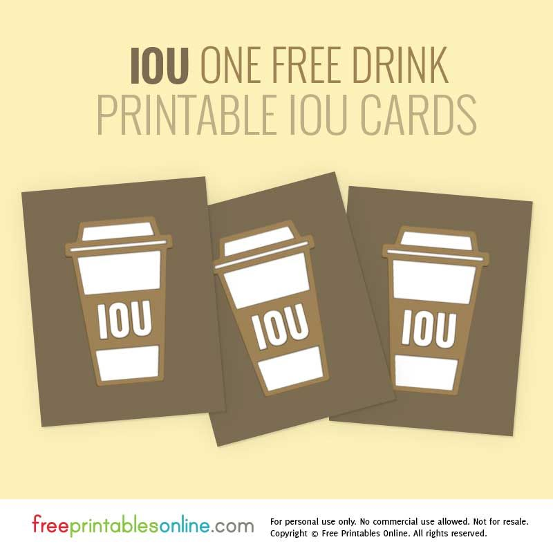 Coffee Lover Printable Iou Vouchers Free Printables Online Coffee Coupons Good Essay Printable Vouchers