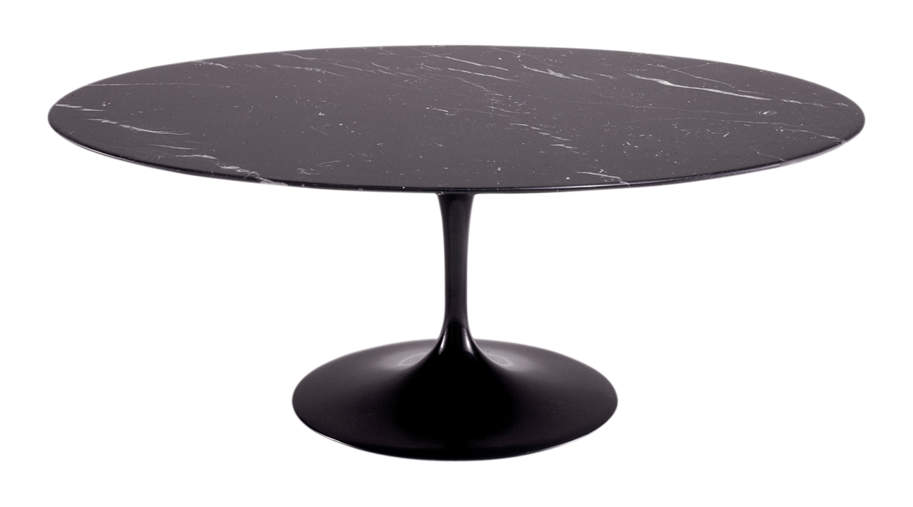 TABLE OVALE SAARINEN 198 CM DE DIAMETRE EN MARBRE NOIR | table ...