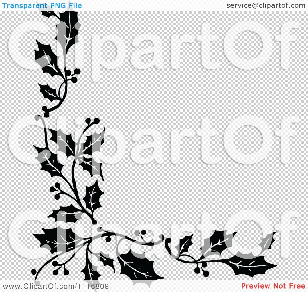 Clipart Retro Vintage Black And White Corner Border Of