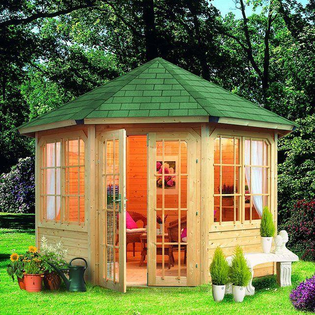 Abri de jardin bois 14.90 m2 Gartenlaube Roma (28mm) L334 x P334 x ...