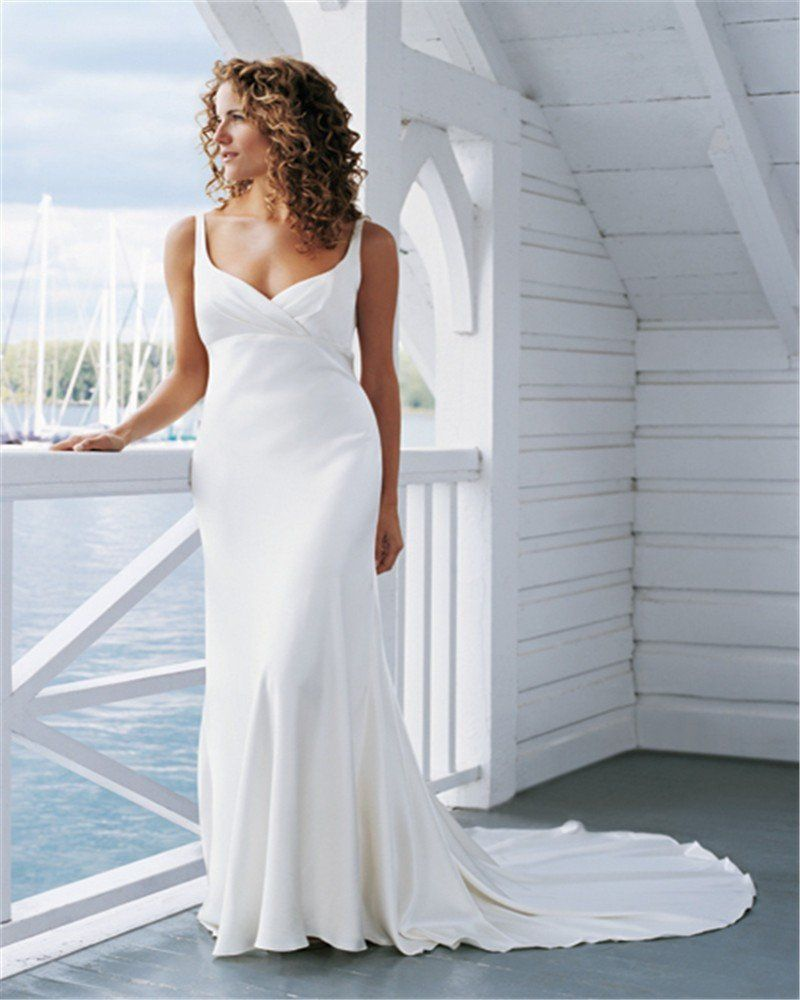 Timeless boho chic open backed wedding gown with court train u avail