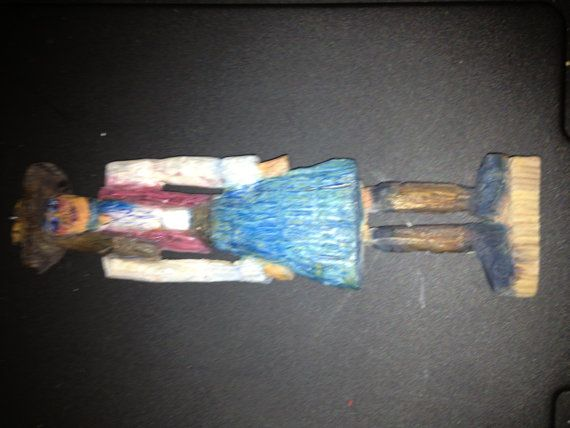 Cowgirl Friend  a carved sculpture that can by marycaikens1artlady