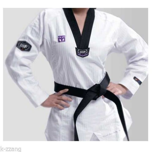 Mooto Korea WTF TaeKwonDo 3FW WOMAN uniforms TKD Dobok Black
