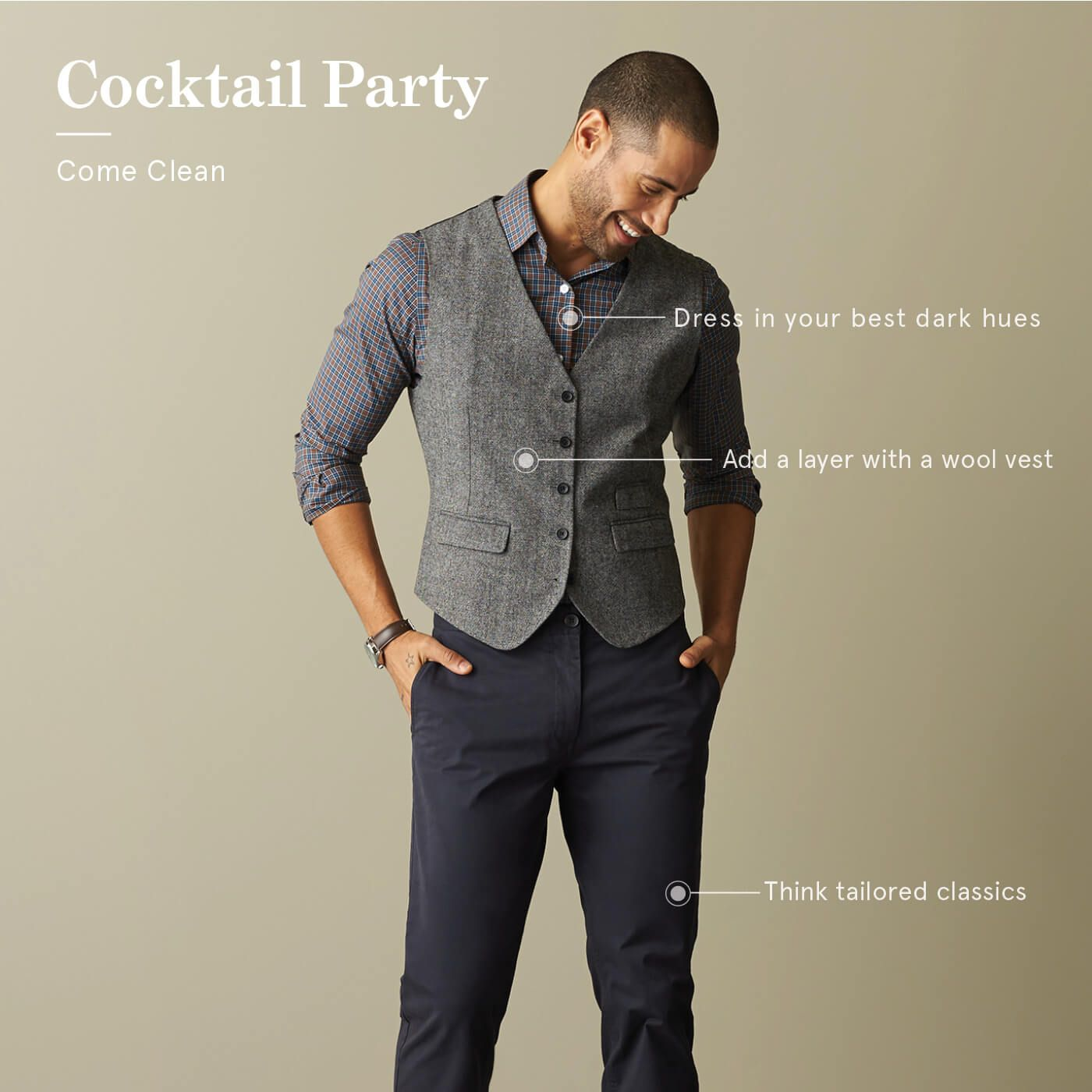 Cocktail party dress code man