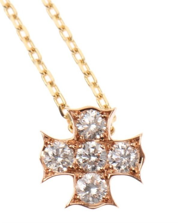 Maltese cross 18k gold and diamond necklace by noor mother and maltese cross 18k gold and diamond necklace by noor mother and daughter 18k rose gold maltese mozeypictures Choice Image