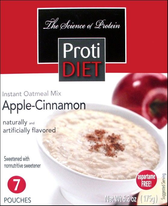Bariatric Diet Supplements Protidiet Apple Cinnamon Instant Oatmeal 7 Servings Box 10 99 Instant Oatmeal Diet Food