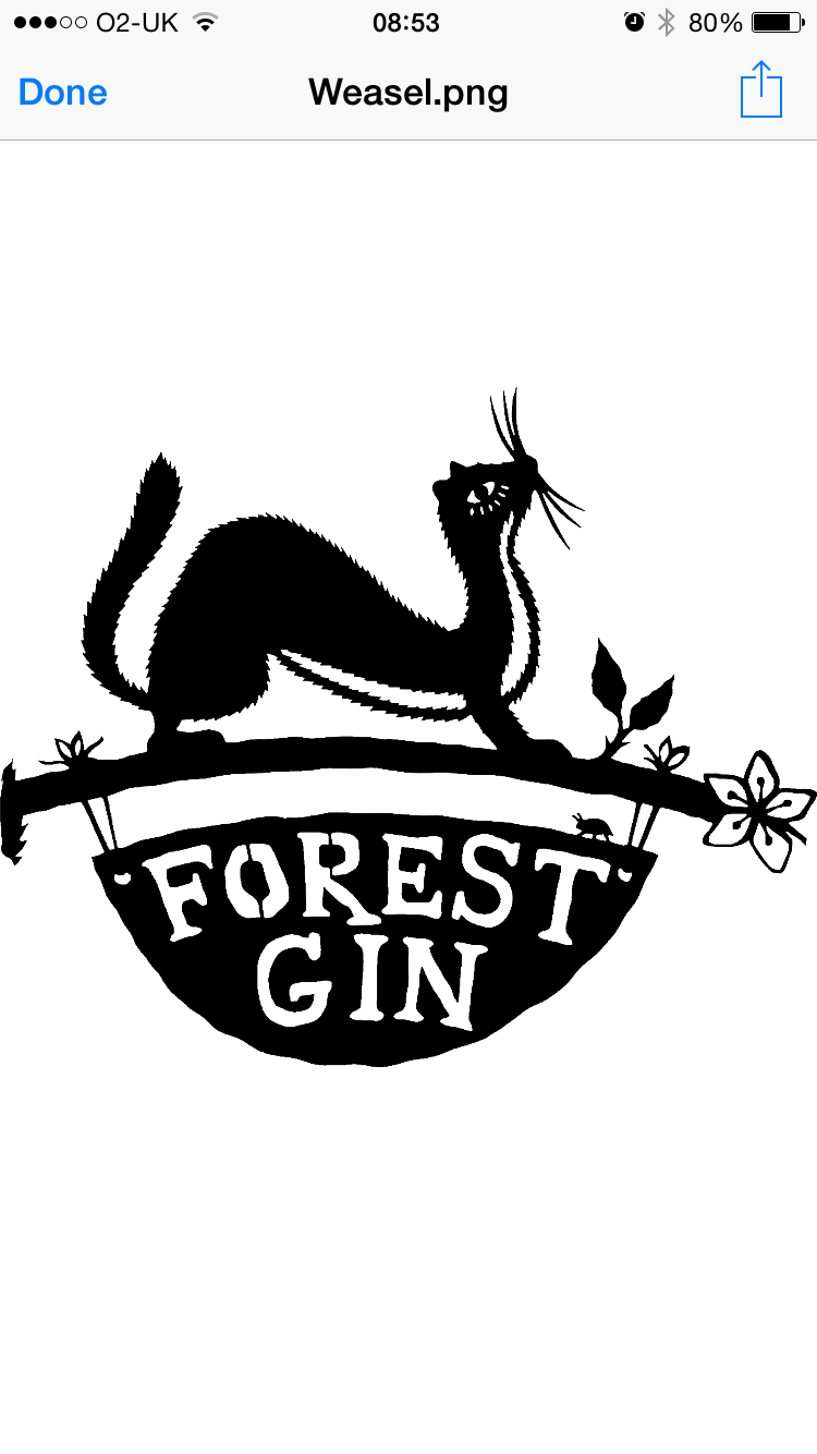 Forest Gin Logo Gin Forest Linocut