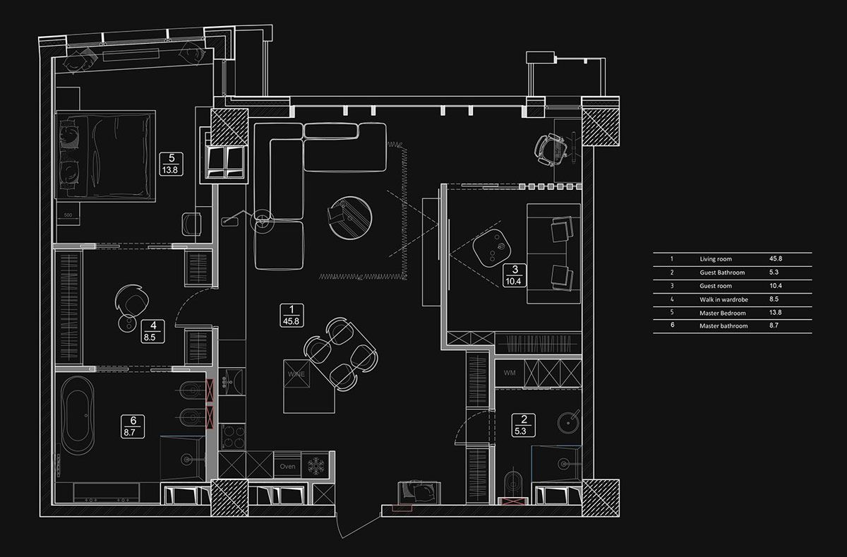 Home Designs Under 100 Sqm With L Shape Living Spaces Plus Floor Plans In 2020 Park Avenue Apartment Floor Plans Hotel Bedroom Design