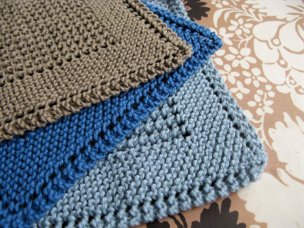 Diagonal Knit Dishcloth Tricot Pinterest Knitted Dishcloths