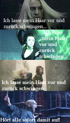 Funny Pics of the Harry Potter films – I whip my hair back and forth Ist übersetzt