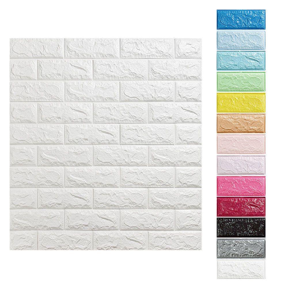 5 Pcs Wandpaneele 3d Selbstklebend Steinoptik Schaum Wand Tapete 70cm 77cm 10mm Wandpaneele Steinoptik Tapeten