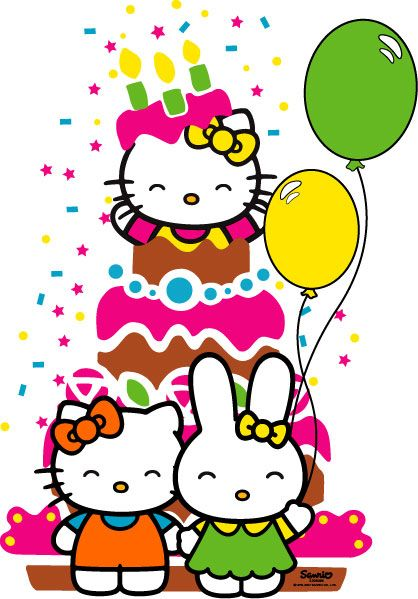 sanrio officiel hello kitty news clipart best clipart best rh pinterest com Hello Kitty Birthday Cards Hello Kitty SVG Birthday