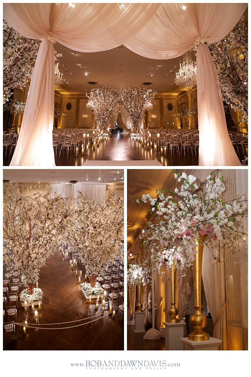 Ideas of wedding decorations  Winter wonderland wedding inspiration Photography by Bob Dawn Davis