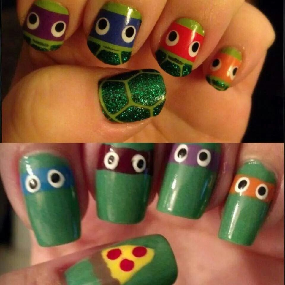 Ninja Turtle nails | Nail art & designs | Pinterest | Ninja turtle ...
