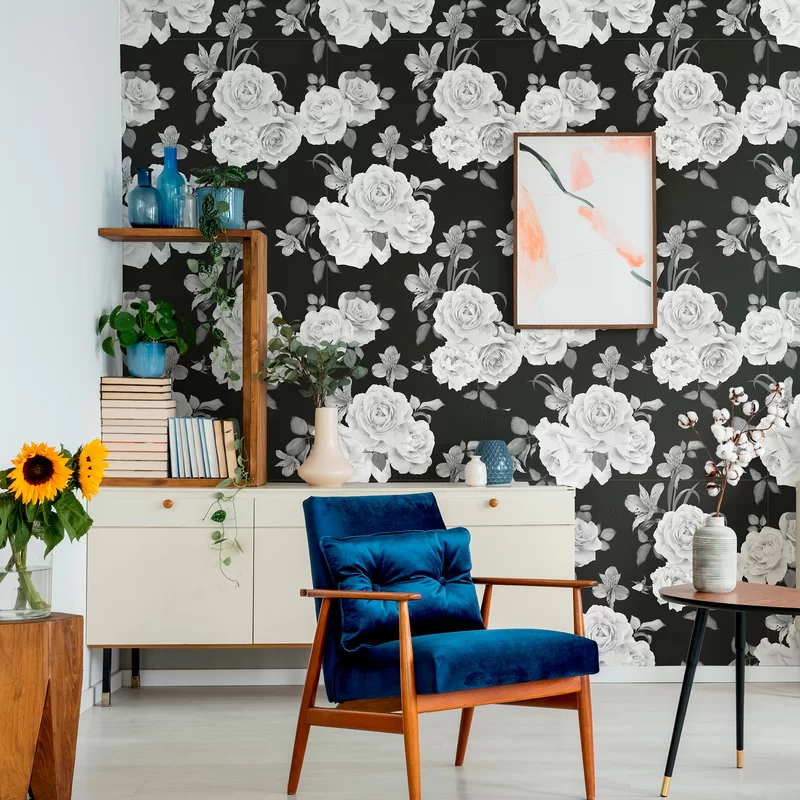 Pate Removable Peel And Stick Wallpaper Panel In 2020 Wallpaper Panels Peel And Stick Wallpaper Vintage Floral Wallpapers