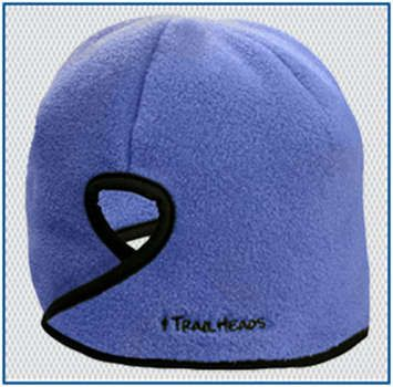 Goodbye Girl Ponytail Hat French blue / black picture