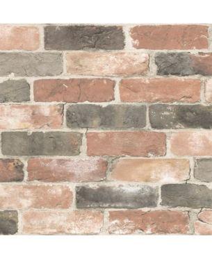 Newport Reclaimed Brick Peel And Stick Wallpaper Red Nuwallpaper Brick Wallpaper Rustic Wallpaper