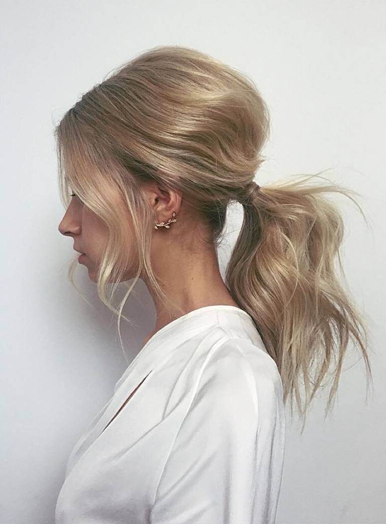 20 Cute and Easy Party Hairstyles for All Hair Lengths and Types | Messy ponytail  hairstyles, Hair styles, Hair lengths