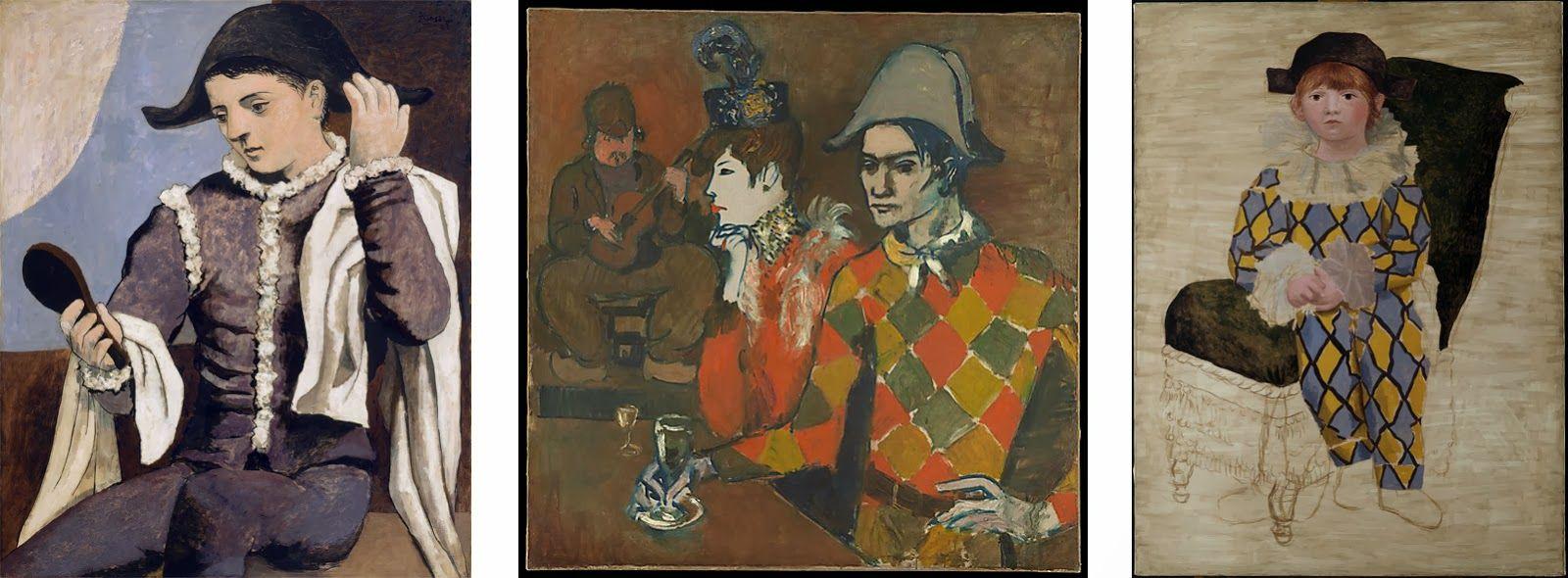Picasso Arlecchinoconlospecchio Atthelapinagile Paulo Vestito Da