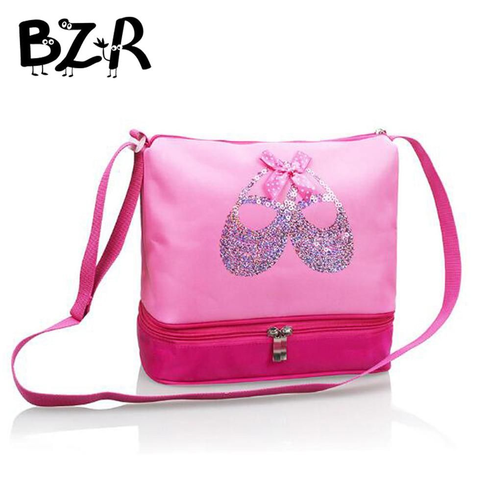 Bazzery Pink Canvas Ballet Dance Bags