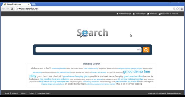 rimuovere searchfar.net