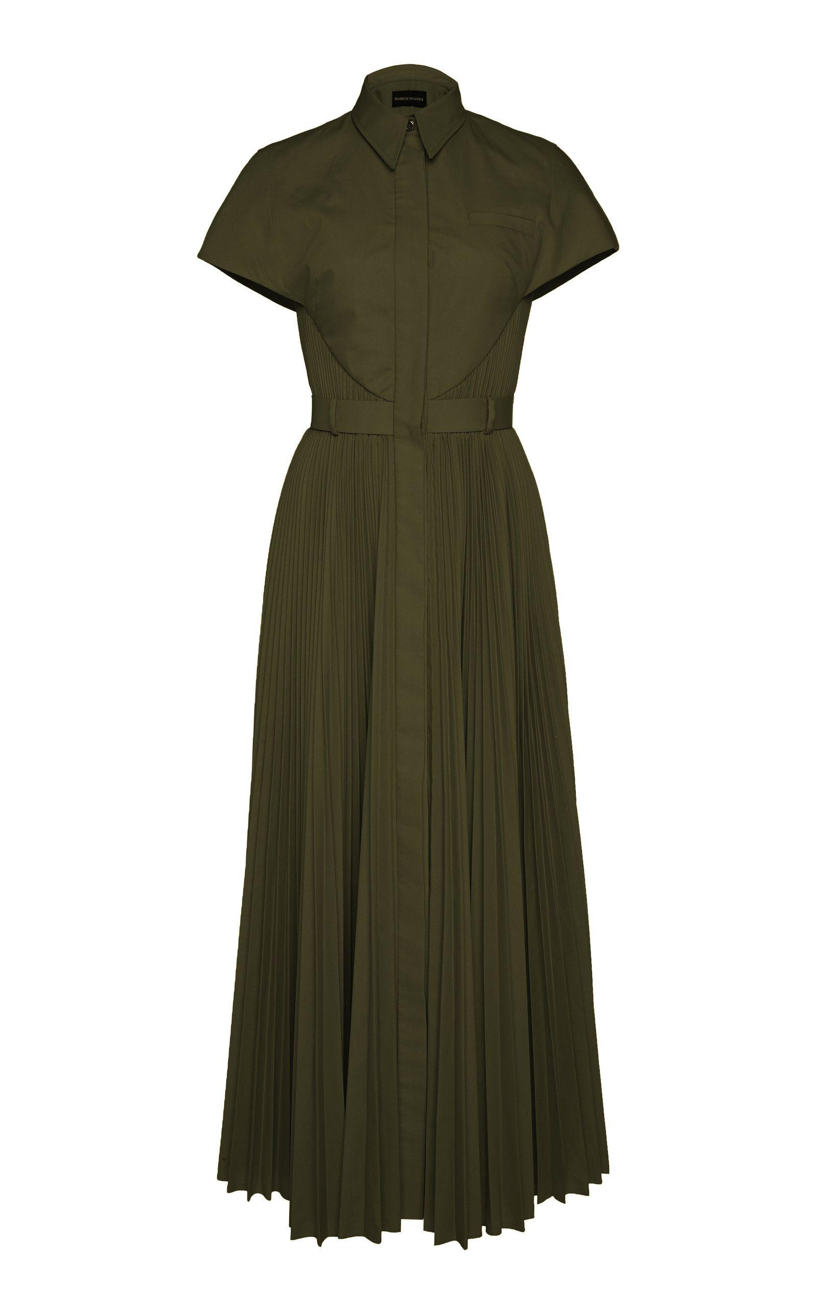 fa03b7ed3b127 Alexachung Point-collar satin midi dress ($515) ❤ liked on Polyvore  featuring dresses, gowns, alexa chung, mid calf dresses, calf …